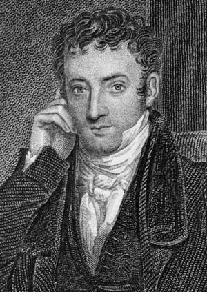 Washington Irving in the 1830s. (Etching based on a painting by Gilbert Stuart Newton.)