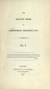 The frontispiece to the first American edition of The Sketch Book of Geoffrey Crayon, Gent.