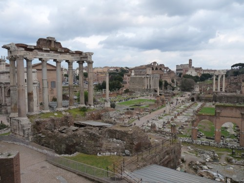 The remains of the Roman Forum.