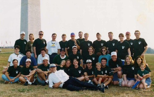 Your 1998 Team jeffords: Vermont Saps.  That's me sitting on the ground behind the Senator, just to the left.