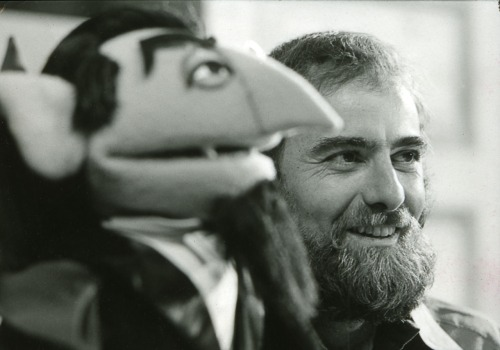 Jerry Nelson with Count Von Count.
